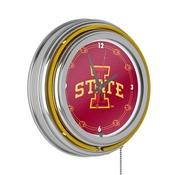 Iowa State University Neon Clock - 14 Inch Diameter