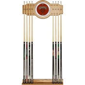 Brown University Wood and Mirror Wall Cue Rack