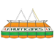 University of Miami Handmade Stained Glass Lamp - 40 Inch - The U