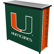 University of Miami Portable Bar with Case - Text