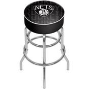 NBA Padded Swivel Bar Stool - City - Brooklyn Nets