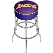 NBA Padded Swivel Bar Stool - Fade - Los Angeles Lakers