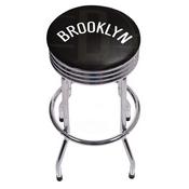 NBA Chrome Ribbed Bar Stool - Fade - Brooklyn Nets