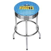 NBA Chrome Ribbed Bar Stool - City - Denver Nuggets