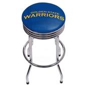 NBA Chrome Ribbed Bar Stool - Fade - Golden State Warriors