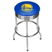 NBA Chrome Ribbed Bar Stool - City - Golden State Warriors