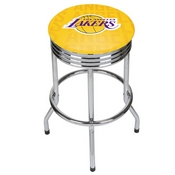 NBA Chrome Ribbed Bar Stool - City - Los Angeles Lakers