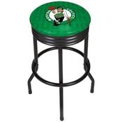 NBA Black Ribbed Bar Stool - City - Boston Celtics