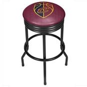 NBA Black Ribbed Bar Stool - City - Cleveland Cavaliers