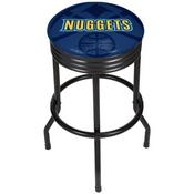 NBA Black Ribbed Bar Stool - Fade - Denver Nuggets