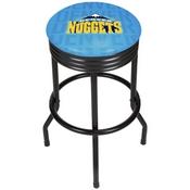 NBA Black Ribbed Bar Stool - City - Denver Nuggets
