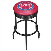 NBA Black Ribbed Bar Stool - City - Detroit Pistons