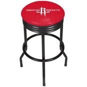 NBA Black Ribbed Bar Stool - City - Houston Rockets