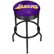 NBA Black Ribbed Bar Stool - Fade - Los Angeles Lakers