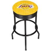 NBA Black Ribbed Bar Stool - City - Los Angeles Lakers