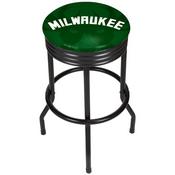 NBA Black Ribbed Bar Stool - Fade - Milwaukee Bucks