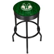 NBA Black Ribbed Bar Stool - City - Milwaukee Bucks