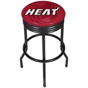 NBA Black Ribbed Bar Stool - Fade - Miami Heat