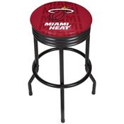 NBA Black Ribbed Bar Stool - City - Miami Heat
