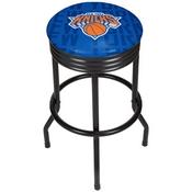 NBA Black Ribbed Bar Stool - City - New York Knicks