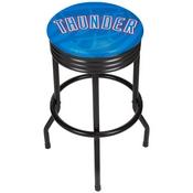 NBA Black Ribbed Bar Stool - Fade - Oklahoma City Thunder