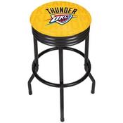 NBA Black Ribbed Bar Stool - City - Oklahoma City Thunder