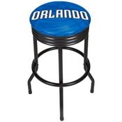 NBA Black Ribbed Bar Stool - Fade - Orlando Magic