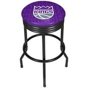 NBA Black Ribbed Bar Stool - City - Sacramento Kings