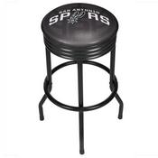 NBA Black Ribbed Bar Stool - Fade - San Antonio Spurs