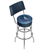 Minnesota Timberwolves NBA Padded Swivel Bar Stool with Back