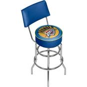 Oklahoma City Thunder NBA Padded Swivel Bar Stool with Back