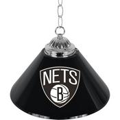 Brooklyn Nets NBA Single Shade Bar Lamp - 14 inch