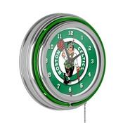 Boston Celtics NBA Chrome Double Ring Neon Clock