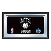Brooklyn Nets NBA Framed Logo Mirror