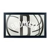 NBA Framed Logo Mirror - Fade - Brooklyn Nets