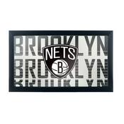 NBA Framed Logo Mirror - City - Brooklyn Nets