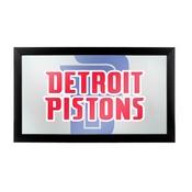 NBA Framed Logo Mirror - Fade - Detroit Pistons