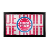NBA Framed Logo Mirror - City - Detroit Pistons