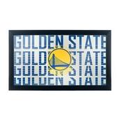 NBA Framed Logo Mirror - City - Golden State Warriors