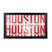 NBA Framed Logo Mirror - City - Houston Rockets