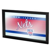 New Jersey Nets Hardwood Classics NBA Logo Mirror