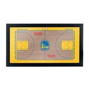 Golden State Warriors Official NBA Court Framed Plaque
