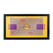 Los Angeles Lakers Official NBA Court Framed Plaque
