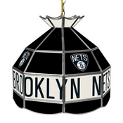 Brooklyn Nets NBA 16 Inch Stained Glass Lamp