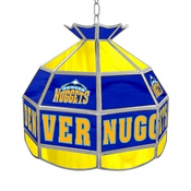 Denver Nuggets NBA 16 Inch Stained Glass Lamp