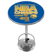 Golden State Warriors Chrome Pub Table - 2015 NBA Champs