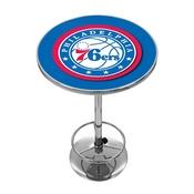 Philadelphia 76ers NBA Chrome Pub Table