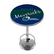 Dallas Mavericks Hardwood Classics NBA Chrome Pub Table