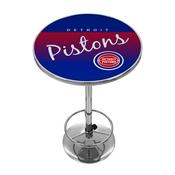 Detroit Pistons Hardwood Classics NBA Chrome Pub Table