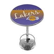 Los Angeles Lakers Hardwood Classics NBA Chrome Pub Table
